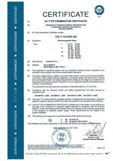 Atex Temporiti srl certificato